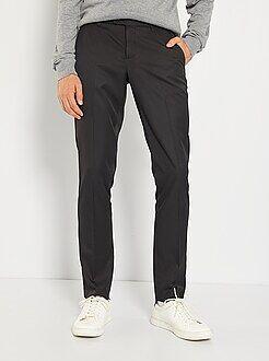 Pantaloni d'abito - Pantaloni abito in twill taglio aderente
