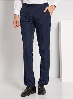 Pantaloni d'abito - Pantaloni abito in twill taglio dritto