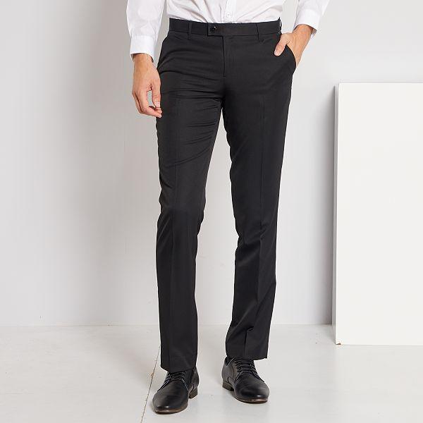 Pantaloni abito in twill taglio dritto