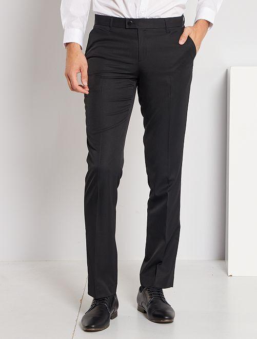 Pantaloni abito in twill taglio dritto                                         nero