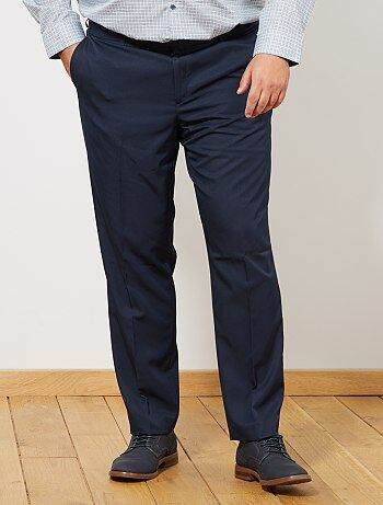 Taglie forti Uomo - Pantaloni abito Regular tinta unita - Kiabi c24099a3c0d4