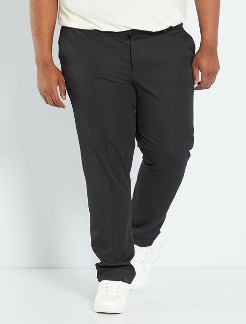 Pantaloni abito Regular tinta unita                             nero