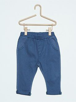 Pantaloni, jeans, leggings - Pantaloni bitessuto twill e tessuto felpato