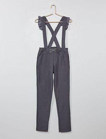 Pantaloni bretelle con volant - Kiabi