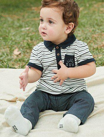Bambino 0-36 mesi - Pantaloni chino a righe puro cotone - Kiabi 65252a91a93