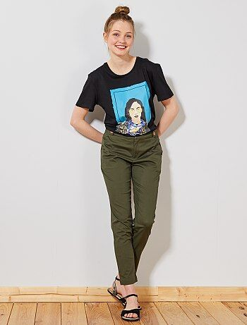 44ab32555949 Pantaloni chino con bottoni - Kiabi