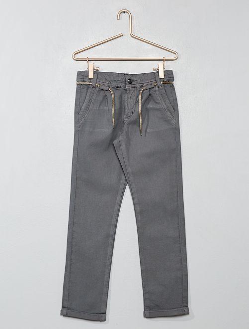 Pantaloni chino con pince                                         grigio Infanzia bambino