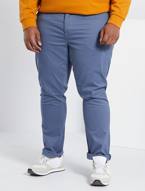 Pantaloni chino fitted twill stretch                                                                             BLU