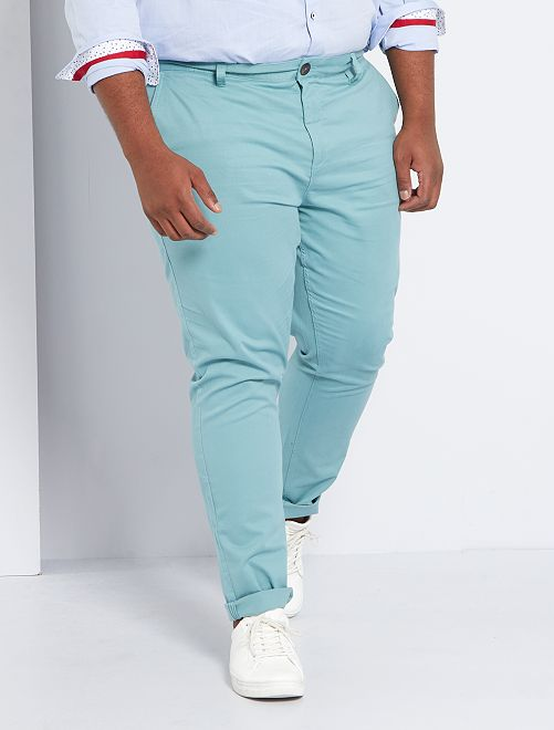 Pantaloni chino fitted twill stretch                                                                                         blu