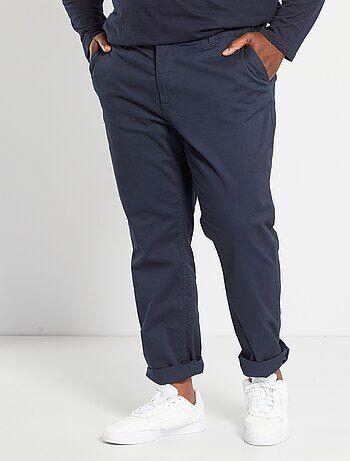 Taglie forti Uomo - Pantaloni chino fitted twill stretch - Kiabi 2cd0e1f05c3