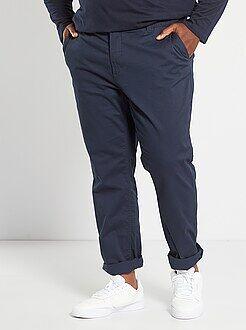 Taglie forti Uomo - Pantaloni chino fitted twill stretch - Kiabi
