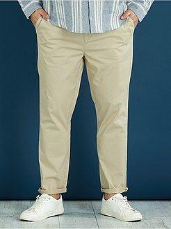 Pantaloni chino fitted twill stretch - Kiabi