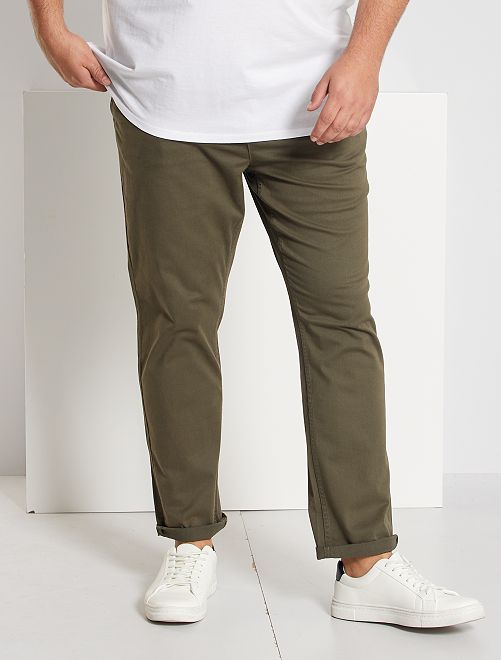 Pantaloni chino fitted twill stretch                                                                             KAKI