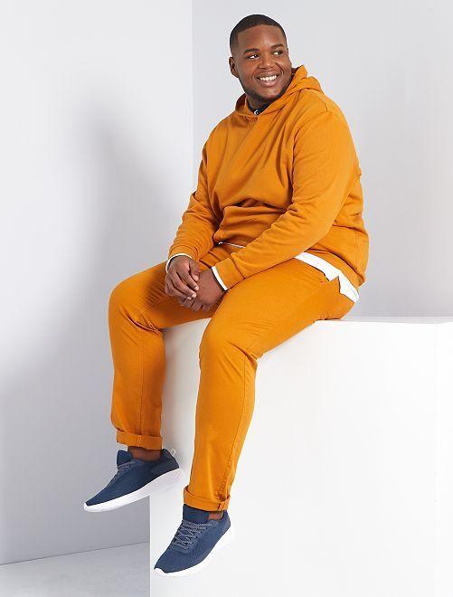 Pantaloni chino fitted twill stretch                                                                                                     marrone