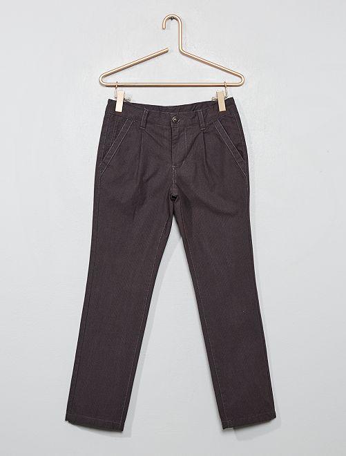 Pantaloni chino foderati                     GRIGIO