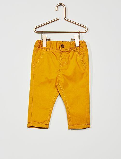 Pantaloni chino                                                                             giallo bronzo