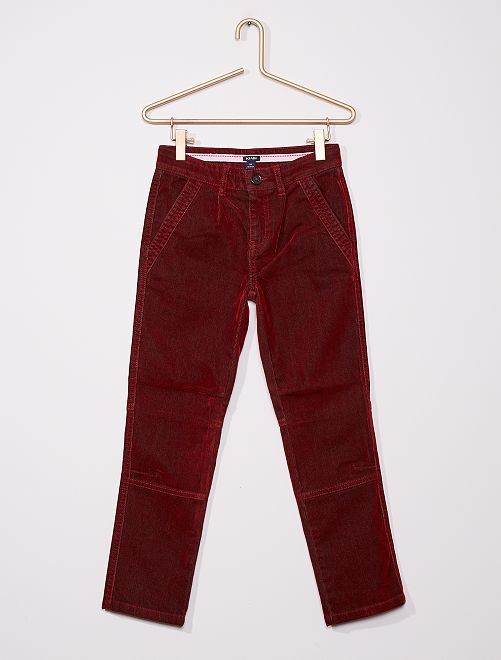 Pantaloni chino in velluto                                         ROSSO