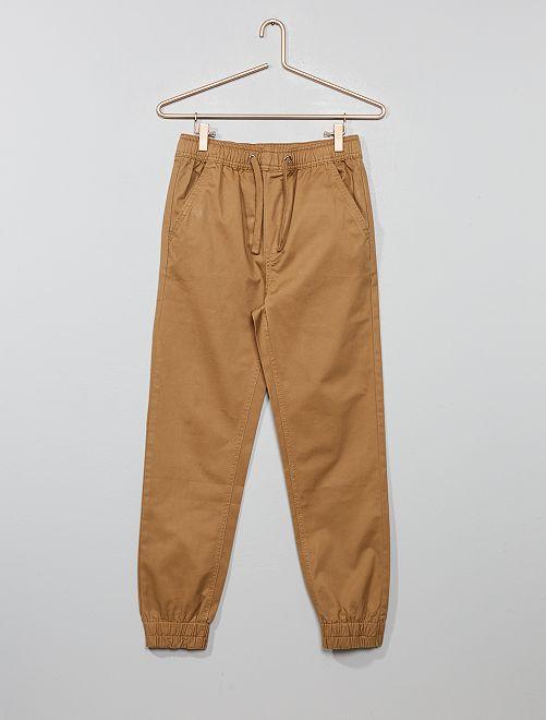 Pantaloni chino jogger                                                     BEIGE Ragazzo