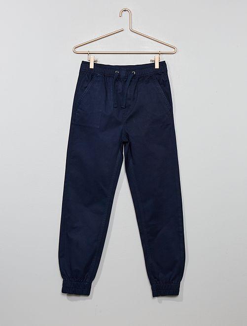 Pantaloni chino jogger                                                     blu