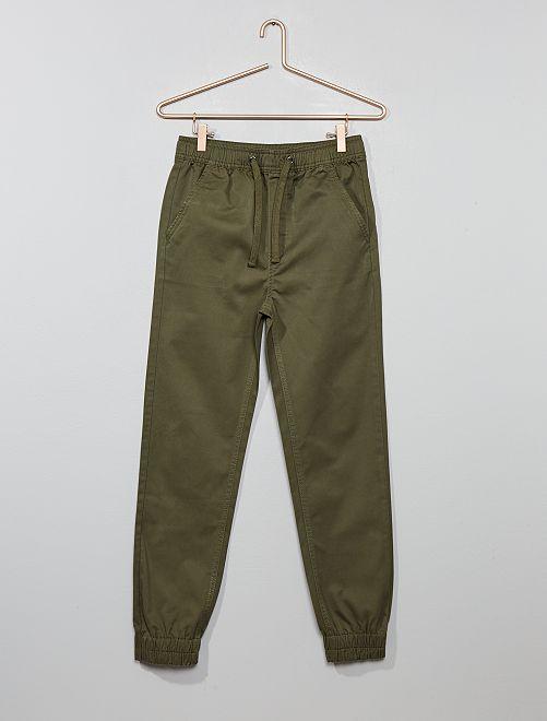 Pantaloni chino jogger                                                     KAKI Ragazzo