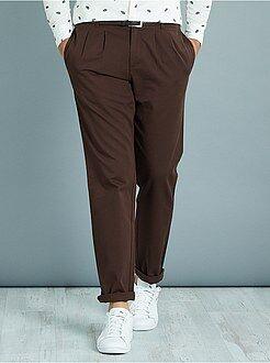 Pantaloni slim - Pantaloni chino pince taglio slim