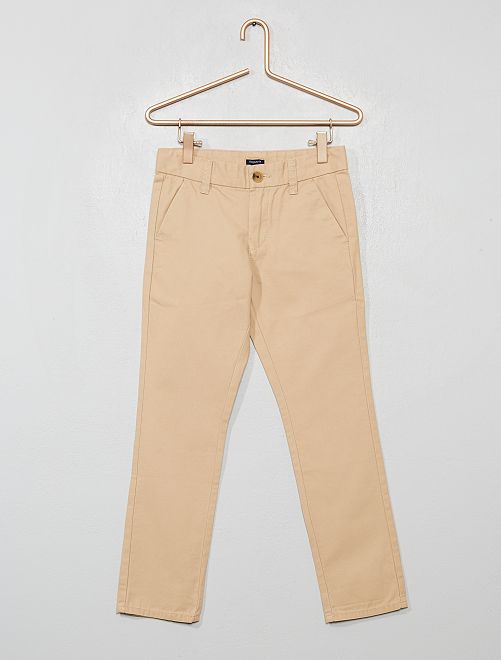 Pantaloni chino regular                                                                 BEIGE