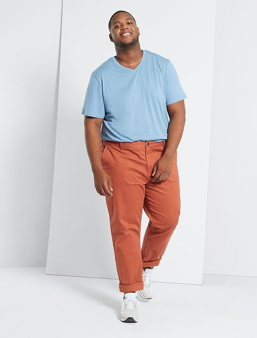 Pantaloni chino regular L34                                                                 ARANCIONE