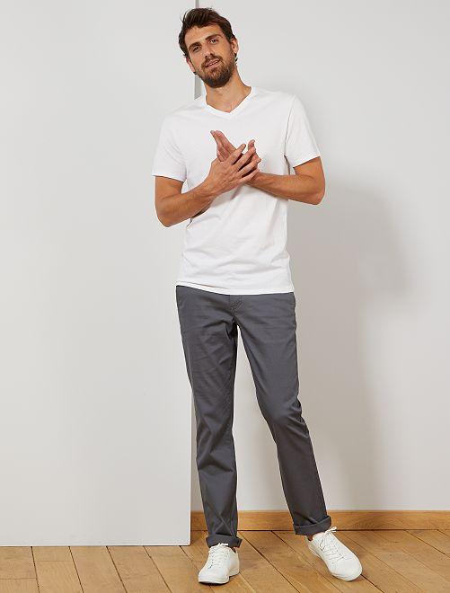 Pantaloni chino regular L36 +1 m 90                                                                             GRIGIO
