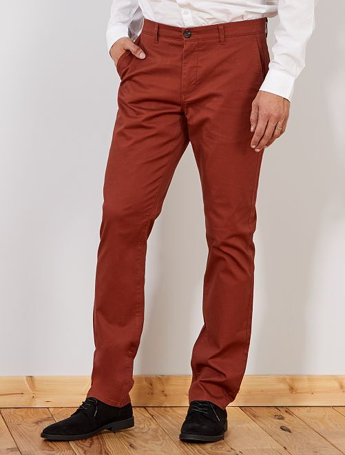 Pantaloni chino regular L36 +1 m 90                                         MARRONE