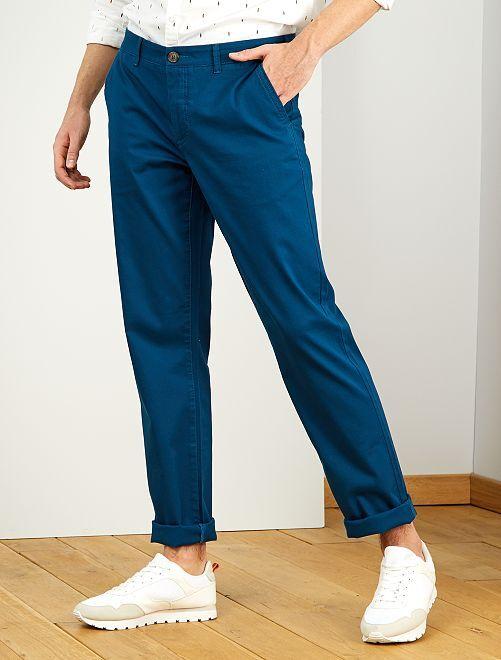 Pantaloni chino regular L38 +1 m 90                                                                 blu