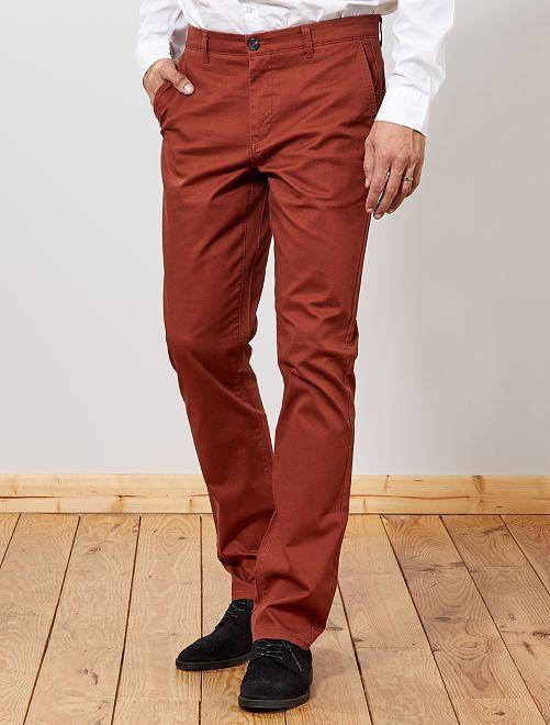 Pantaloni chino regular L38 +1 m 90                                                     MARRONE Uomini alti più di 190cm