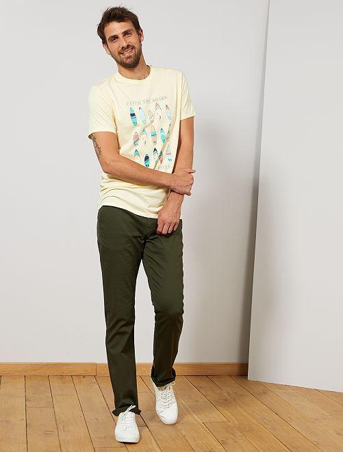 Pantaloni chino regular L38 +1 m 90                                                                             verde selva