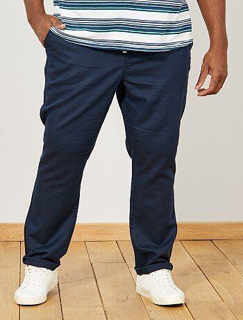 d206d9126f06 Taglie forti Uomo - Pantaloni chino regular lino - Kiabi