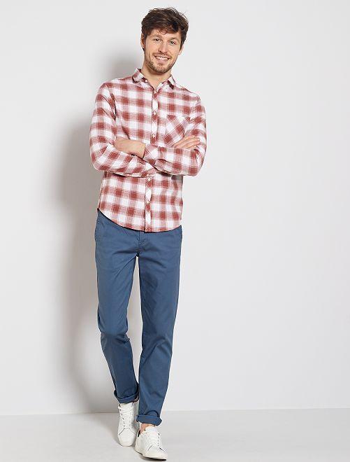 Pantaloni chino regular maglia piqué                                                                                                                             BLU