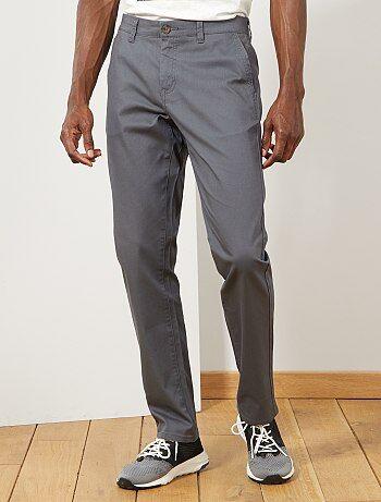 Pantaloni chino regular maglia piqué - Kiabi