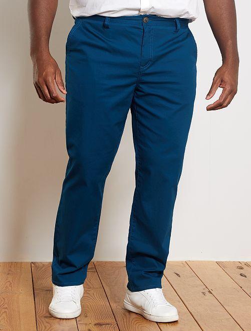 Pantaloni chino regular Oxford                                                                 blu