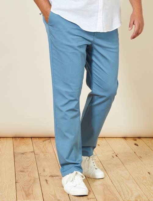 Pantaloni chino regular Oxford                                                     BLU Taglie forti uomo
