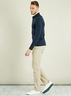 Uomini alti più di 190cm - Pantaloni chino regular puro cotone L36 + 1 m 90 - Kiabi