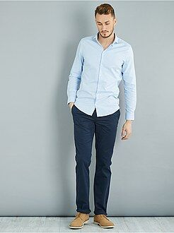 Uomo dalla S alla XXL - Pantaloni chino regular puro cotone L36 + 1 m 90 - Kiabi