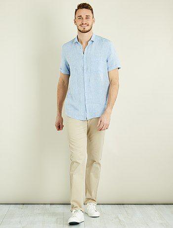 Pantaloni chino regular puro cotone L38 + 1 m 90 - Kiabi