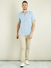 Pantaloni chino regular puro cotone L38 + 1 m 90