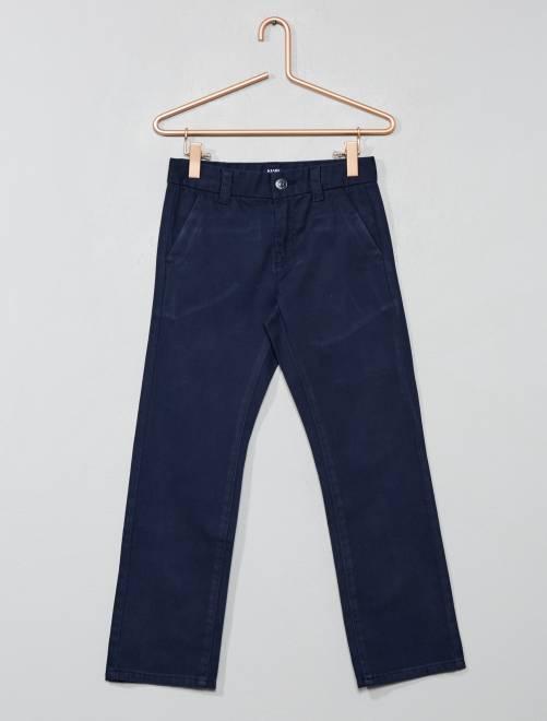 Pantaloni chino regular twill                             blu Infanzia bambino