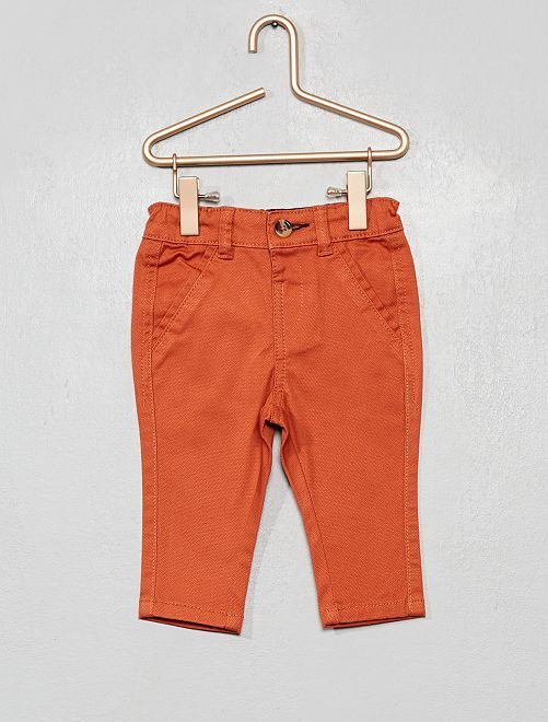 Pantaloni chino                                                     rosso mattone