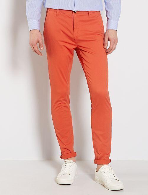 Pantaloni chino skinny                                                                 arancio páprika
