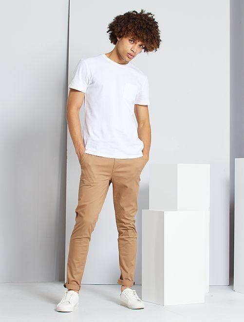 Pantaloni chino skinny                                                                                                                 BEIGE