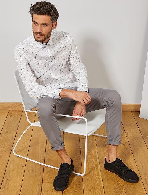 Pantaloni chino skinny                                                                 GRIGIO Uomo
