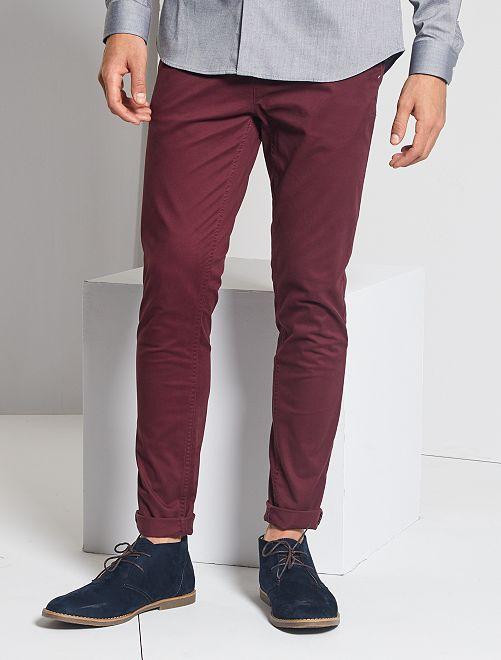 Pantaloni chino skinny                                                                 rosso