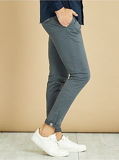 Uomo dalla S alla XXL - Pantaloni chino skinny twill - Kiabi