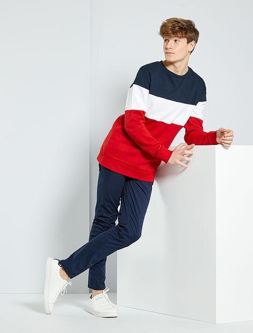 Pantaloni chino slim                                         blu