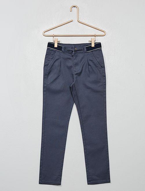 Pantaloni chino slim cintura sportiva                                                                 GRIGIO